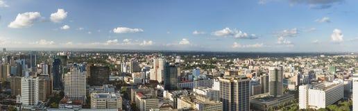 Nairobi stadspanorama, Kenya Arkivbilder