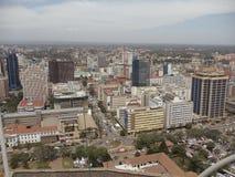 Nairobi Town. A typical view of Nairobi CBD town from above, Kenya Royalty Free Stock Images
