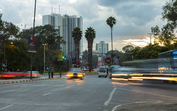 Nairobi trafik Fotografering för Bildbyråer