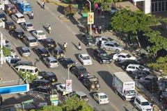 Nairobi trafikstockning, Kenya, ledare Royaltyfri Bild