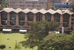Nairobi University (Kenya )compund. Aerial view of Nairobi University compound with student in the field Stock Image