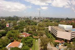 Nairobi väg- och gatasikt av Westlands Arkivfoto