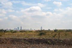 Nairobia Kenja, Afryka miasta przedmieścia wieś grodzka droga Fotografia Stock