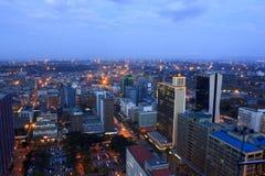 Nairobia Kenja przy nocą Zdjęcia Stock