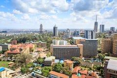 Nairobia pejzaż miejski - stolica Kenja zdjęcia stock