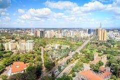 Nairobia pejzaż miejski - stolica Kenja obrazy stock