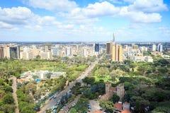 Nairobia pejzaż miejski - stolica Kenja zdjęcie stock