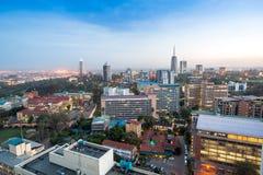 Nairobia pejzaż miejski - stolica Kenja zdjęcie royalty free