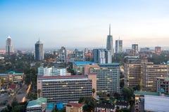 Nairobia pejzaż miejski - stolica Kenja fotografia royalty free