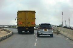 Nairobia ulicy i drogi Zdjęcie Royalty Free