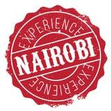 Nairobia znaczka gumy grunge Obrazy Royalty Free
