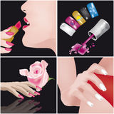 Nais Art-manicure Stock Photo