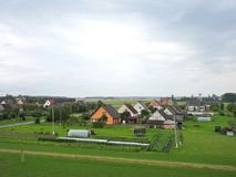 Naisiai town in summer, Lithuania Royalty Free Stock Images