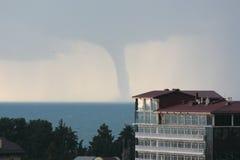 Naissance d'une tornade. Image stock