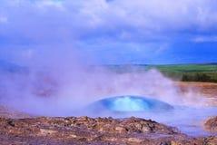 Naissance de geyser Photo libre de droits