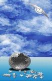 Naissance de puzzle de temps Image stock