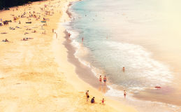 Naithon beach with people. Phuket, Thailand Royalty Free Stock Photo