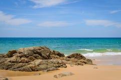 Naithon plaża na Phuket wyspie, Tajlandia Zdjęcia Stock