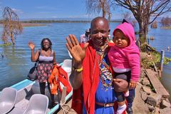 naivasha λιμνών Κένυα Στοκ Φωτογραφία