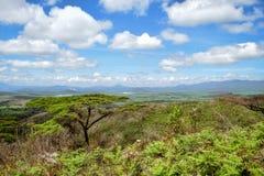 Naivasha församling som ses från den Eburru kullen, Naivasha, Rift Valley, Kenya Royaltyfri Foto