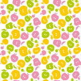 Naive apple fruit seamless pattern for fabric Stock Image
