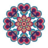 Naive art childish mandala in bright colors stock image