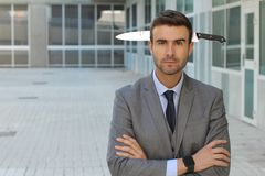 Naive businessman who doesn`t know he has been betrayed.  Stock Images