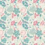 Naive floral pattern Stock Image