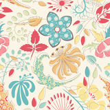 Naive floral pattern Stock Photos