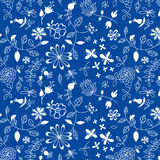 Naive floral pattern Royalty Free Stock Photography