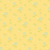 Naive flowers, yellow Royalty Free Stock Photography