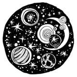 Naive kawaii Nachtraumzusammensetzung vektor abbildung