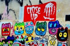 Naive Kunst der Straßenkunst Stockbild