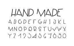 Naive sloppy handwriting, decorative flashy letters. Careless decorative letters written by hand Royalty Free Stock Photo