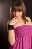 A naive young girl Royalty Free Stock Image