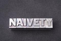 Naivety word bm Royalty Free Stock Image