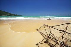 naiyang strandzeegezicht Stock Foto's