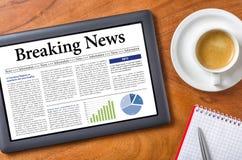 najświeższe wiadomości złamać każdą aktualizację Zdjęcie Stock