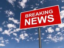 najświeższe wiadomości złamać każdą aktualizację Zdjęcie Royalty Free
