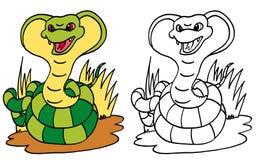 Naja la cobra india ilustración del vector