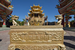 Naja statue of Chinese shrine temple Stock Photography