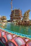 Naja statue of Chinese shrine temple, Chonburi, Thailand Stock Photos