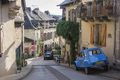 Najac, Frankreich stockbilder