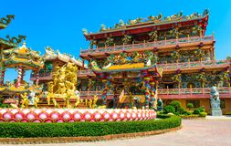 Najasaataichue Chinese temple. In Thailand royalty free stock photos