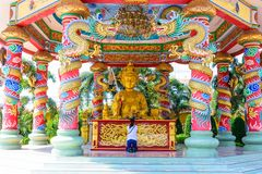 Najasaataichue Chinese temple. From Thailand stock image