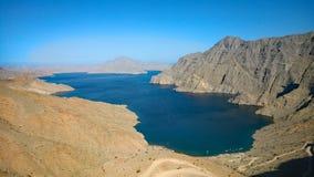 An-Najd de Khor: Península de Musandam, Omán Imágenes de archivo libres de regalías