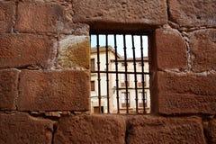 Najera Plaza Mayor The way of Saint James. In La Rioja of Spain Stock Photo