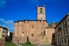 Najera Plaza Mayor The way of Saint James. In La Rioja of Spain Stock Photography