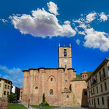 Najera Plaza Mayor The way of Saint James. In La Rioja of Spain stock image