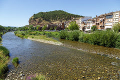 Najerilla River passing through the town of Najera Stock Photo